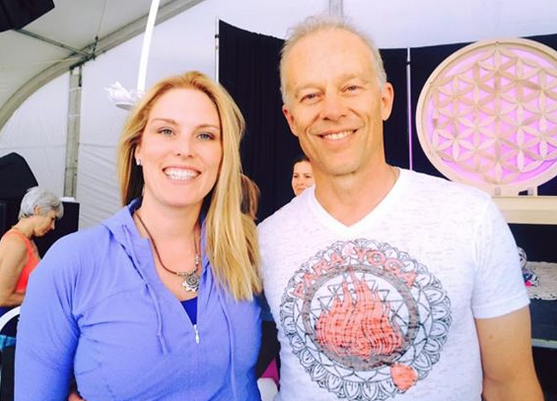 Rod and Samantha CEO and Co- Founder yoga fun day yoga festival south Florid