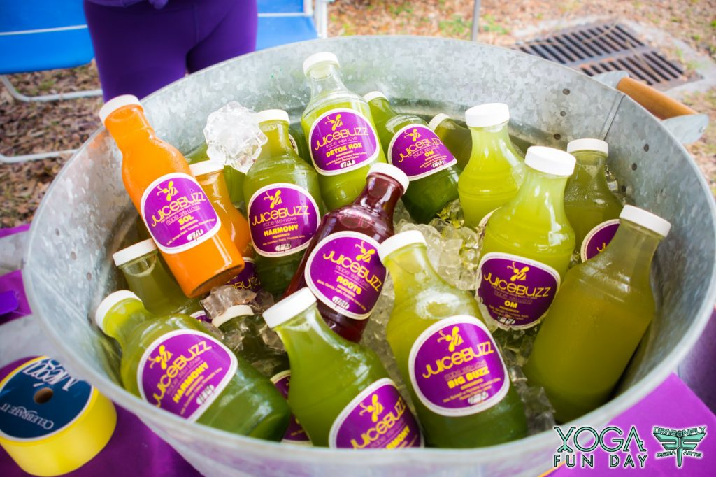 Juice Buzz at Yoga Fun Day Delray Beach yoga fun day yoga festival south Florida