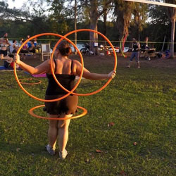 CASANDRA TANENBAUM The HoopDance Teacher at Yoga Fun Day Will Be Teach at Space Coast Yoga Festival