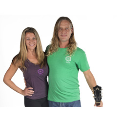 MICHELE GUESS & JEFF FEDORA The Flying Beach Yoga Teacher at Yoga Fun Day Will Be Teach at Space Coast Yoga Festival