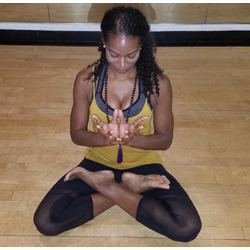 BERNICE PIERRE the 500 RYT in Vinyasa, a Reiki Master, Sound bowl healer, Angel card practitioner at Yoga Fun Day will be teaching at this Miami Yoga Festival