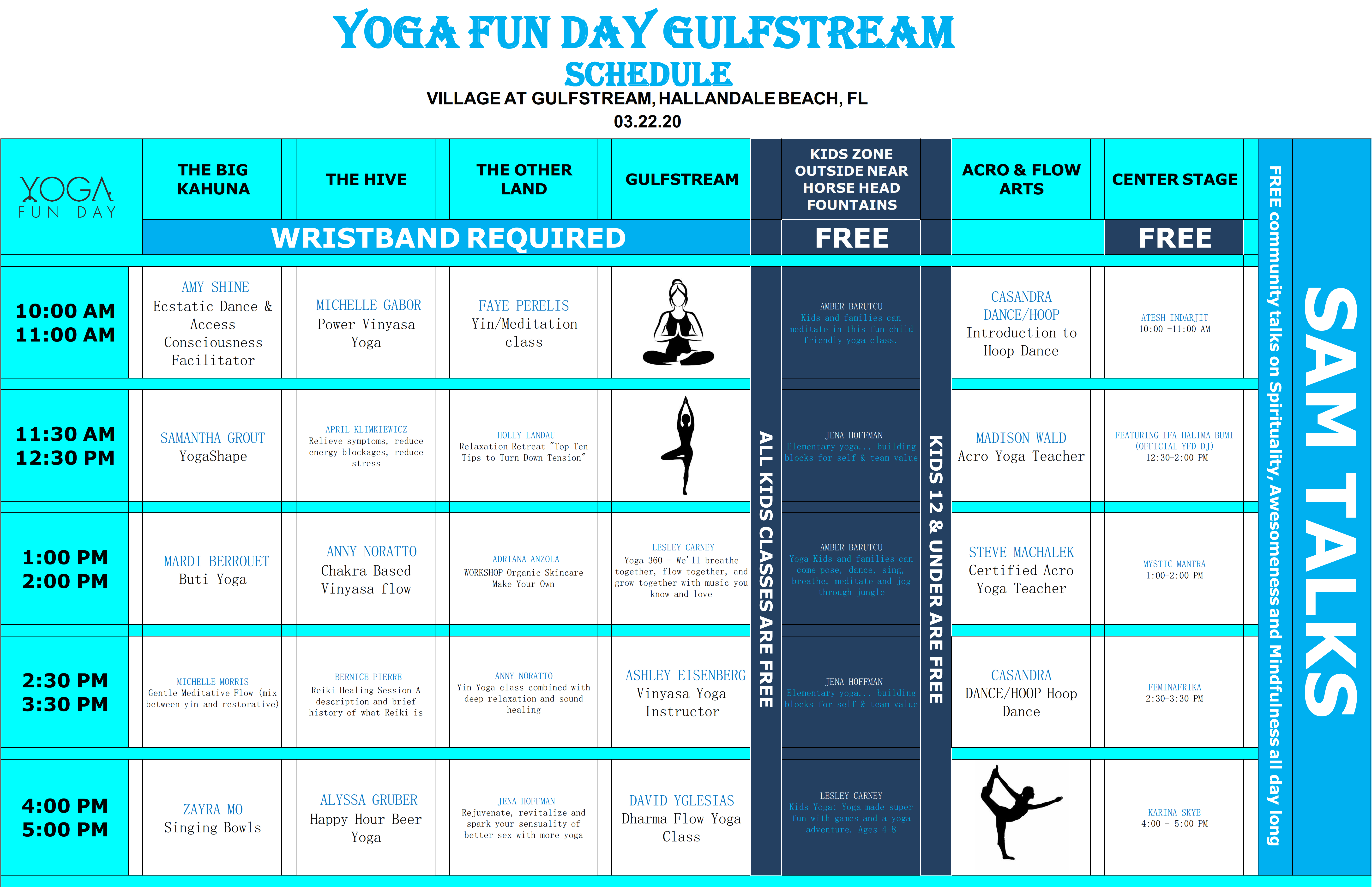 Yoga Festival Yoga Events South Florida Yoga Gulfstream Yoga Teachers Schedule