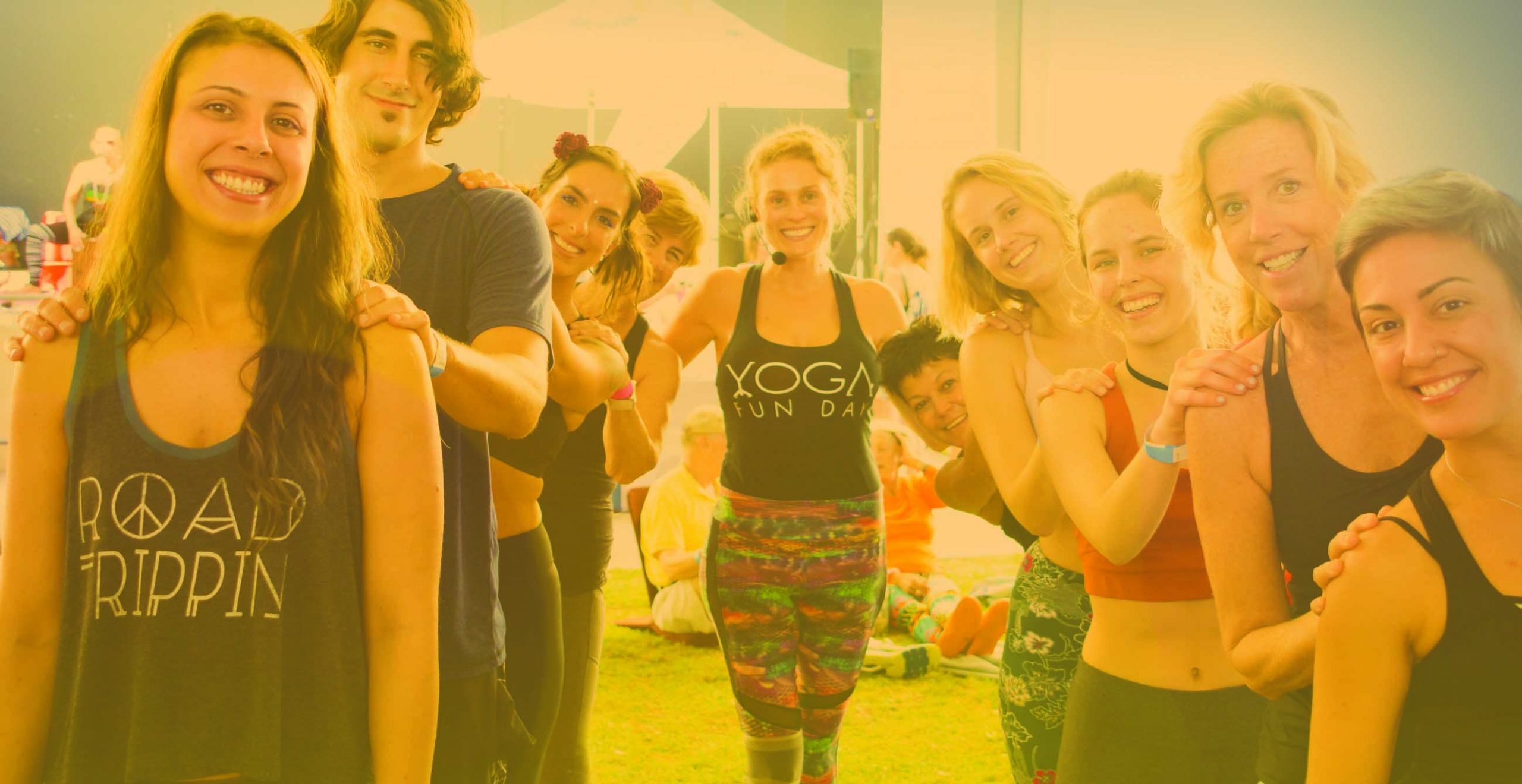 Yoga fun day about us team